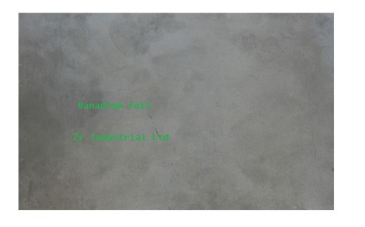Vanadium foil, Vanadium sheet